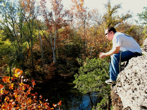 Sitting on some clifs above the Stones River