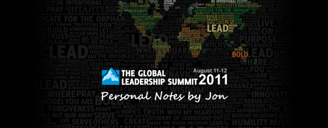 Posting from Leadership Summit